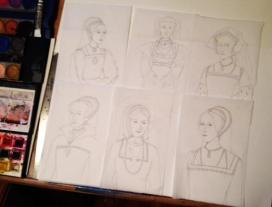 Tudor Wives Sketches