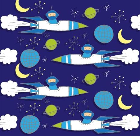Boys Spaceship Pattern