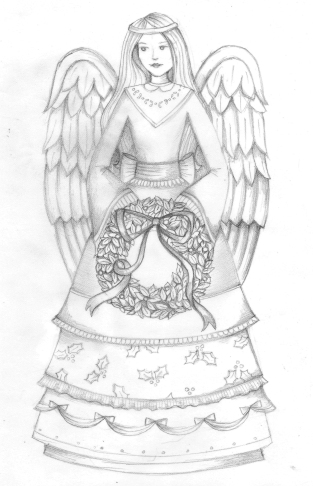 Product Sketch Garden Angel