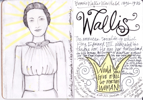 Sketchbook Wallis Simpson
