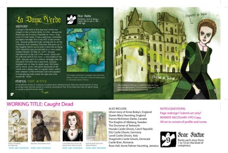 Caught Dead: A Guide to Haunted Castles from Around the World, and the Ghosts who Haunt them. Non-fiction Ages 8 to 15.